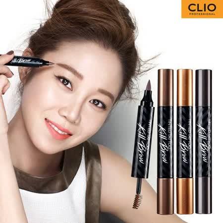 韓國 珂莉奧 CLIO 魅黑刺青兩用眉筆/眉液筆+染眉膏 花猴推薦