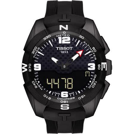 TISSOT T-TOUCH鈦 太陽能觸控錶-黑/45mm T0914204705701