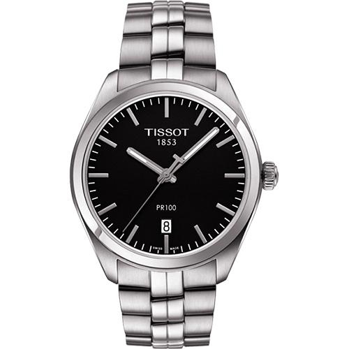 TISSOT PR100 美學 腕錶~黑39mm T1014101105100
