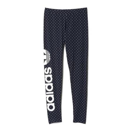 (女)ADIDAS LINEAR LEGGINGS 緊身褲 深藍-AB2011