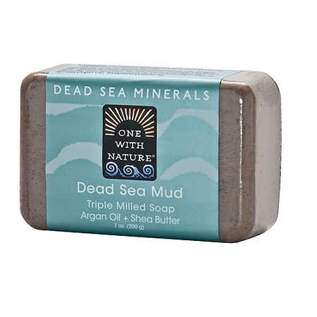 美國One With Nature死海礦物皂-死海泥DEAD SEA MUD SOAP