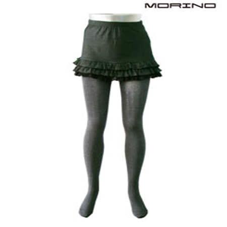 《MORINO摩力諾》美型條紋厚質感保暖褲--灰色