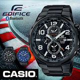 CASIO EDIFICE 全新指針世界地圖樣貌 時尚腕錶-黑/EFR-302BK-1A