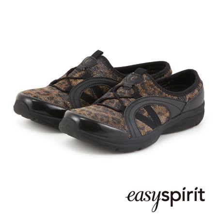 Easy Spirit 超輕量拼接設計舒適走路鞋--黑咖啡