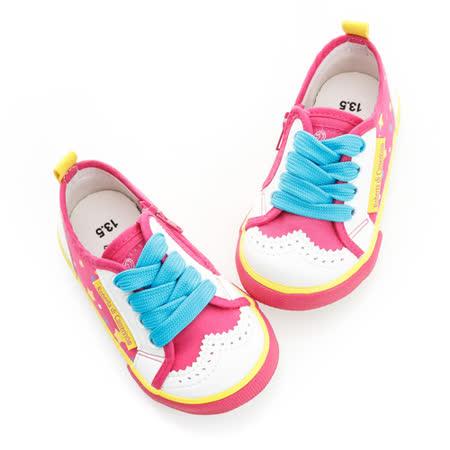 Roberta諾貝達 輕量舒適柔軟彈性休閒帆布鞋 614802-桃