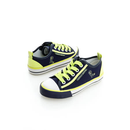 Roberta諾貝達 百搭款舒適柔軟彈性鞋墊休閒帆布鞋 614808-藍