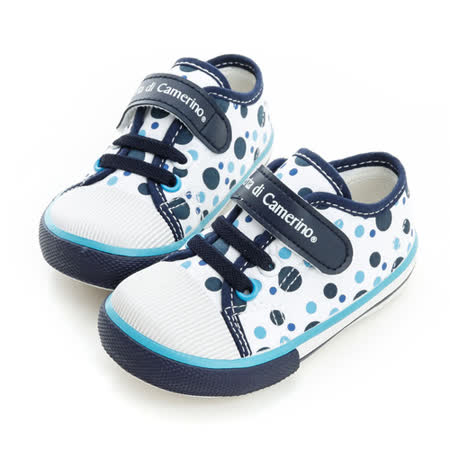 Roberta諾貝達 輕量舒適柔軟彈性鞋墊休閒帆布鞋 614902-藍
