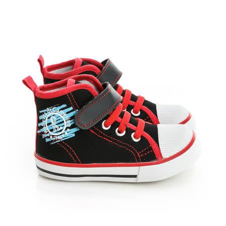 Roberta諾貝達 舒適柔軟彈性鞋墊中筒休閒帆布鞋 614911-黑