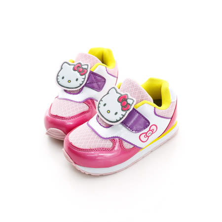 Hello Kitty 超輕量舒適透氣腳床型抗菌防臭鞋墊慢跑鞋 713551-粉