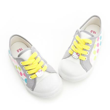 Hello Kitty 剪影系列舒適柔軟彈性鞋墊休閒帆布鞋 714725-白