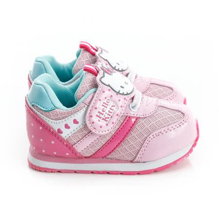 Hello Kitty 輕量透氣腳床型抗菌防臭鞋墊休閒慢跑鞋 714855-粉