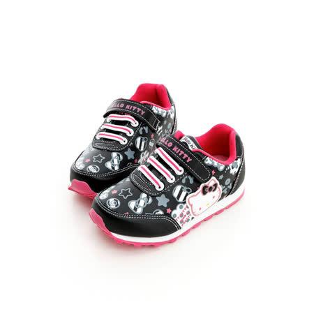 Hello Kitty 塗鴉系列舒適抗菌防臭鞋墊休閒慢跑鞋 714871-黑