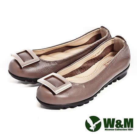 W&M (女)四方環氣墊淑女鞋-棕