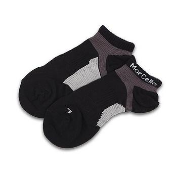 瑪榭 腳踝足弓船襪L-黑灰/丈紅/黃藍(25~27cm)