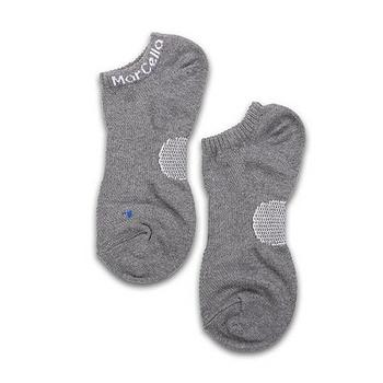 瑪榭 足透氣足弓船襪L-淺灰/黑/寶藍(25~27cm)
