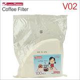 Tiamo V02 漂白咖啡濾紙100張*3入(日本製) HG3725W