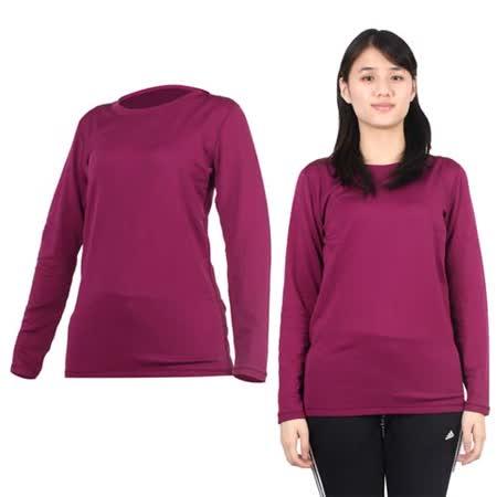 (女) PARABOLA 圓領保暖排汗衣-長袖T恤 紫