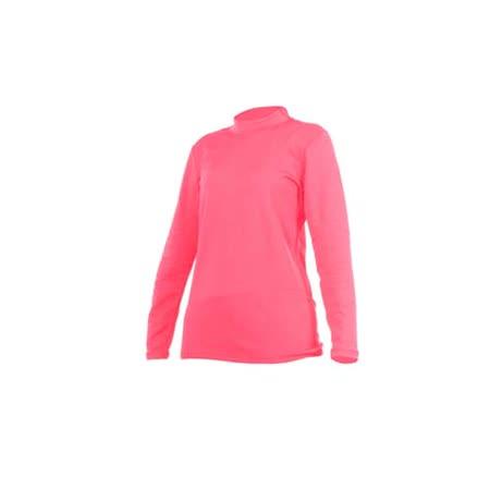 (女) PARABOLA 高領保暖排汗衣-長袖T恤 桃紅