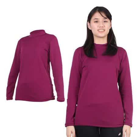 (女) PARABOLA 高領保暖排汗衣-長袖T恤 紫