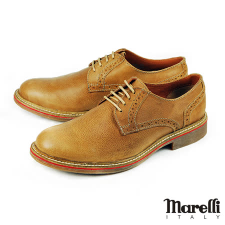 【marelli】仿舊擦色德比休閒鞋 棕色(28100-CAM)