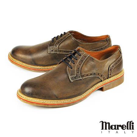 【marelli】仿舊擦色德比休閒鞋 深咖(28100-MAR)