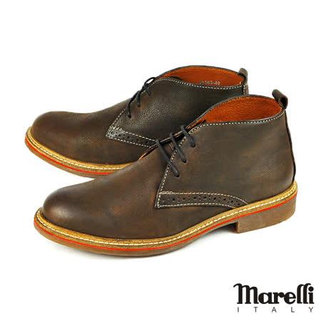 【marelli】歐式質感休閒短靴/沙漠靴  褐色(28103-MAR)