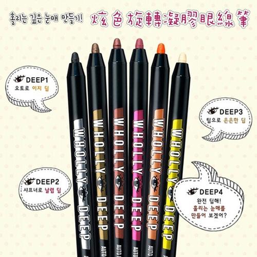 韓國 Peripera WHOLLYDEEP 炫色旋轉凝膠眼線筆 0.5g