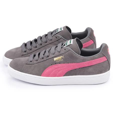 PUMA 女款Suede Classic + 運動鞋356568-72-灰粉