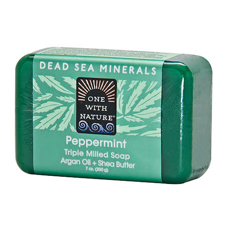 美國One With Nature死海礦物皂-薄荷Peppermint Soap