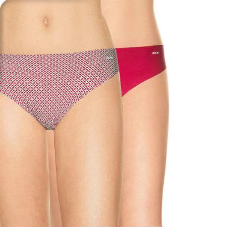 法國DIM-invisidims「輕薄無痕-超細纖維」系列三角丁字褲2件組-紅