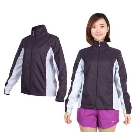 (女) SOFO 風衣外套-防風 慢跑 路跑 立領 深葡萄紫粉紫