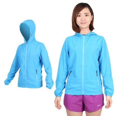 (女) SOFO 薄風衣外套-可收納 連帽 慢跑 路跑 天空藍
