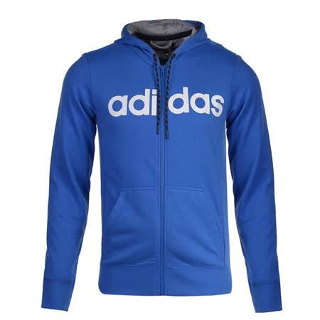 (男)ADIDAS LIN3S FZHOOD 外套 藍-AC4172