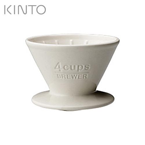~ KINTO~SCS陶瓷濾杯4杯~白~027631