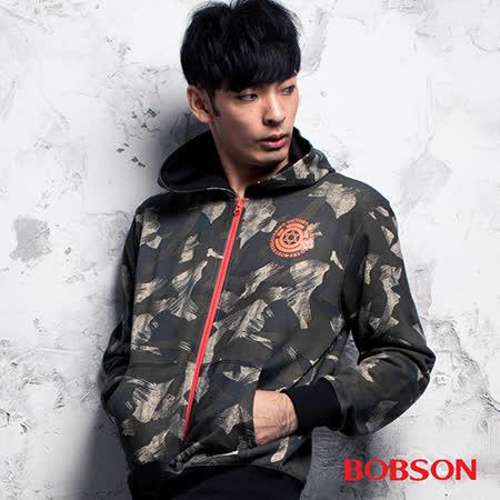 BOBSON 男款迷彩連帽外套(35019-42)