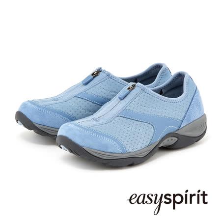 【網購】gohappy快樂購物網Easy Spirit 柔適包覆自在隨性 異材質拼接拉鍊設計休閒鞋-清爽藍開箱愛 買 工作