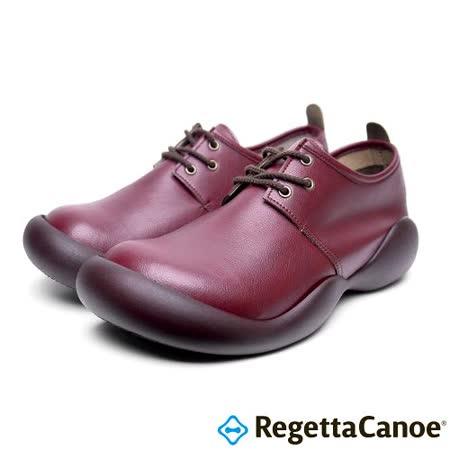 RegettaCanoe _(男款)CJOS-6409優雅樂步休閒鞋-酒紅色