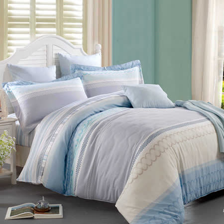 【Betrise春風和煦】雙人100%天絲TENCEL四件式兩用被床包組