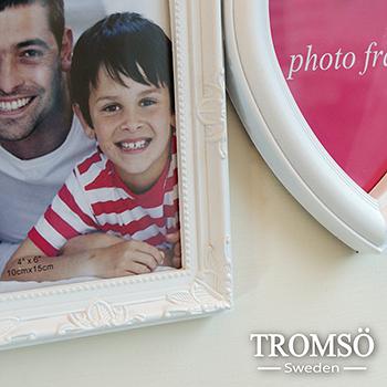 TROMSO-愛心Family立體相框3框/白色