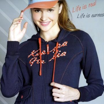 Kappa LADIES'法式毛巾外套 背面刷毛 FC46~2644