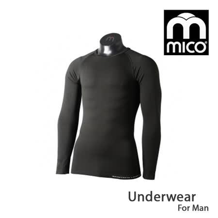MICO 男高彈性圓領長袖排汗內衣1803 / 城市綠洲 (彈性機能、長袖上衣、內著)