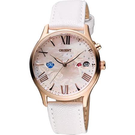 ORIENT 東方錶 玫瑰仙子夢幻機械錶-珍珠貝x白/36mm FDM01004W
