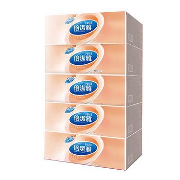 倍潔雅PASEO柔肌感盒裝面紙160抽*5盒