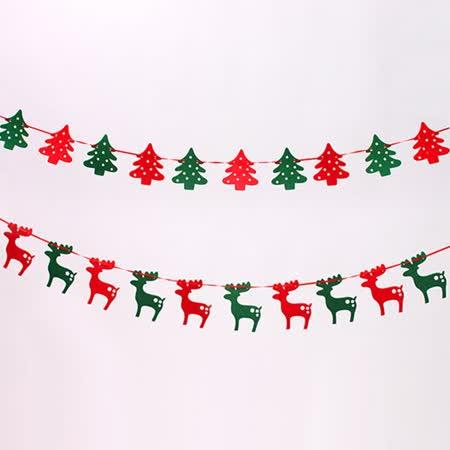【PS Mall】聖誕裝飾羊毛氈聖誕樹掛件 小鹿/雪花/襪子_2個 (J800)