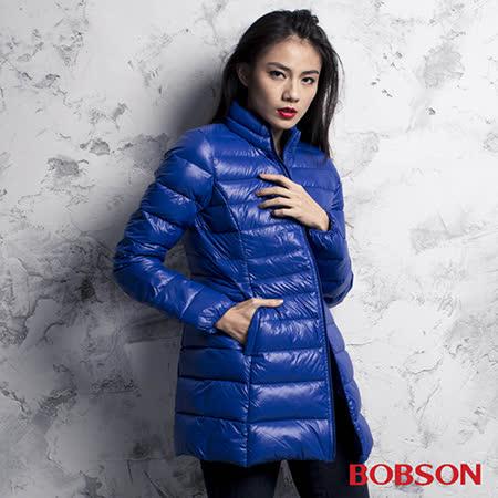 BOBSON 女款輕量羽絨長版外套 (35106-61)
