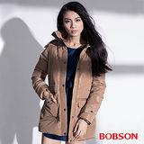 BOBSON 女款絲綿長版外套 (35108-72)