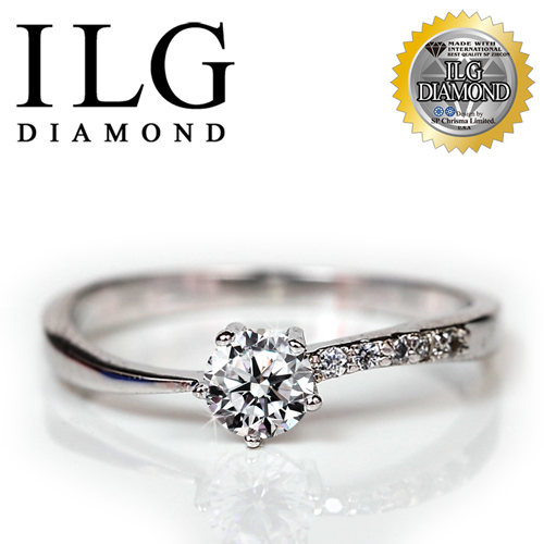 ~ILG鑽~ 八心八箭擬真鑽石戒指~輕奢美人款 主鑽約20分 RI076獨特氣質低調生日