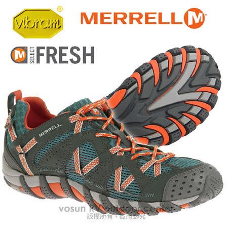 【美國 MERRELL】男鞋 WATERPRO MAIPO 水陸兩棲健行登山鞋.運動鞋_深藍/紅 J564155