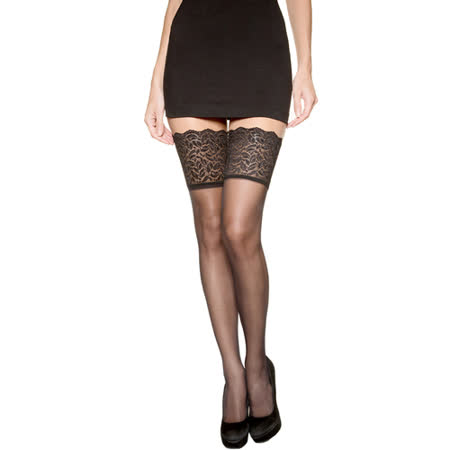 DIM-SEXY寬版蕾絲大腿襪