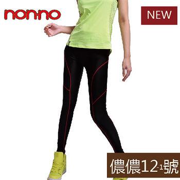 NON-NO 運動壓力褲-線條款(M~L/L~XL )